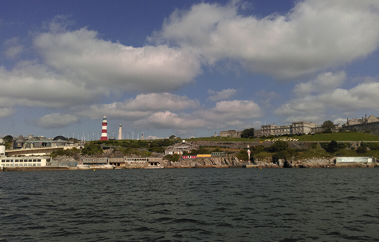 View of Plymouth Hoe from Plymouth Sound