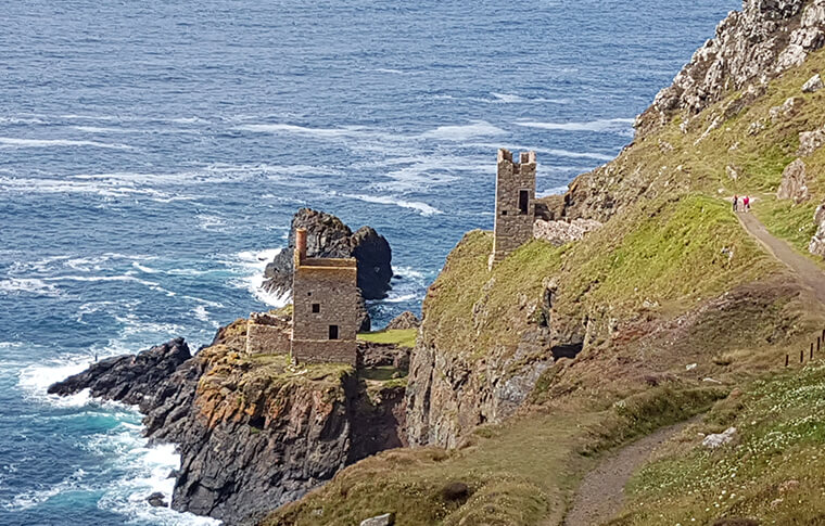 Botallack Mines located along the coast of Cornwall