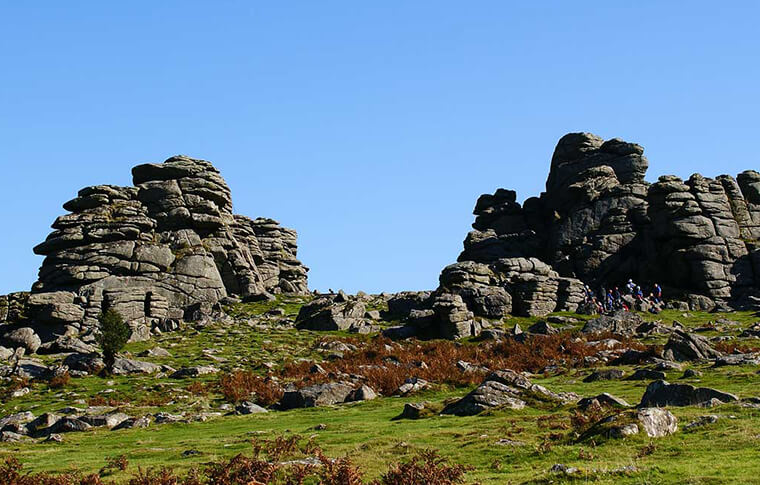 Hound Tor in Dartmoor National Park
