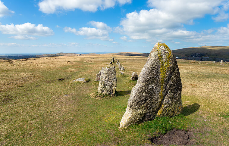 Merrivale Stone in Dartmoor National Park