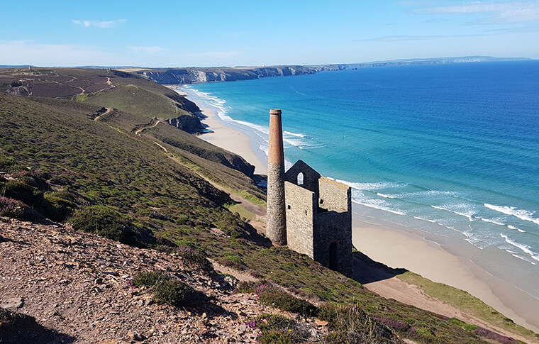 Wheal Coates on the coast of Cornwall, England