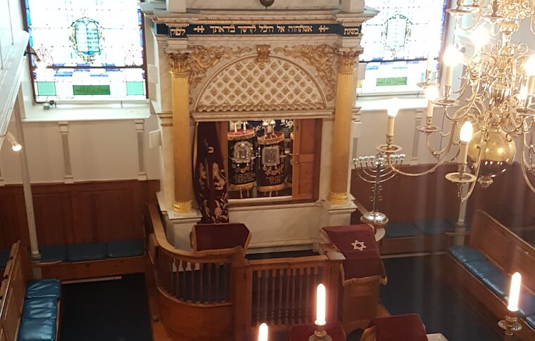 Interior of the Plymouth Synagogue
